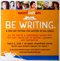 Wordcrafters in Eugene presents Be Writing 2016